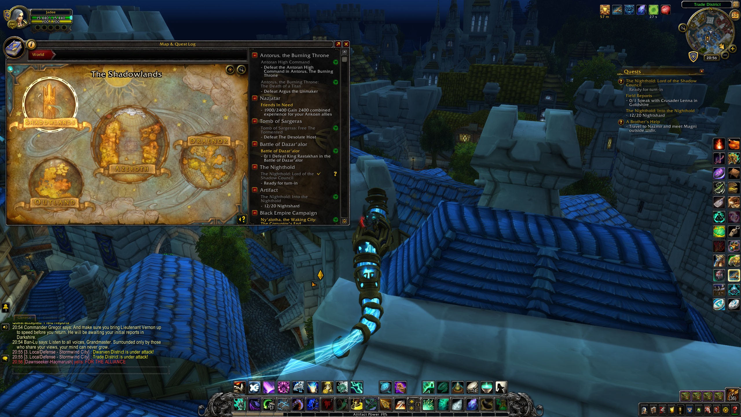 V mapkách už si můžete Shadowlands prohlédnout.